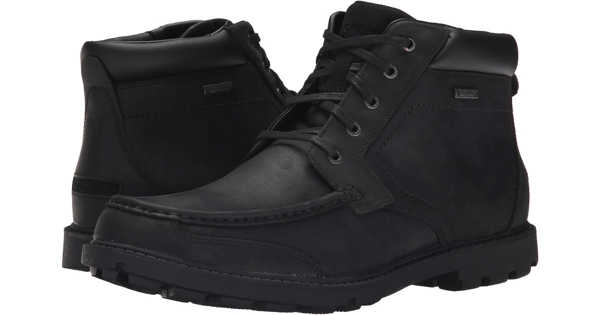 Rockport Rugged Bucks Moc Boot Waterproof In Black For Men