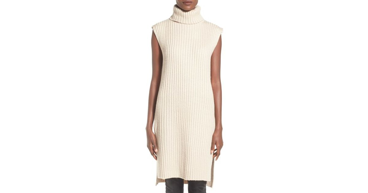 e79422ebd44c Lucca Couture Sleeveless Turtleneck Sweater Dress in White - Lyst
