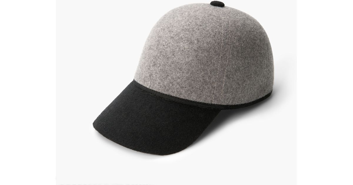 7b4e7b7ed63248 Mango Wool-blend Baseball Cap in Gray - Lyst