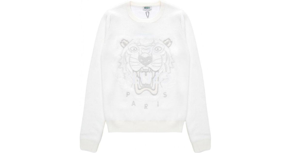 Tiger On Lyst Sweatshirt White Kenzo In 0q67F7