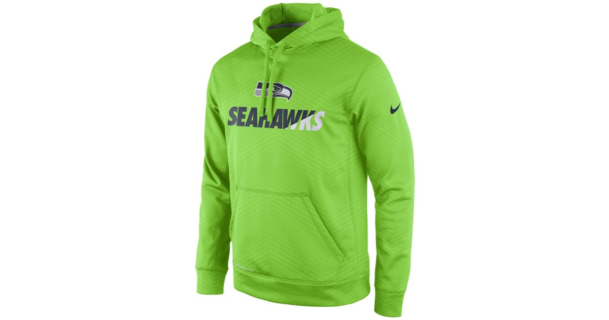 best prices cheapest price hot new products Nike Blue Men's Seattle Seahawks Sideline Ko Fleece Hoodie for men