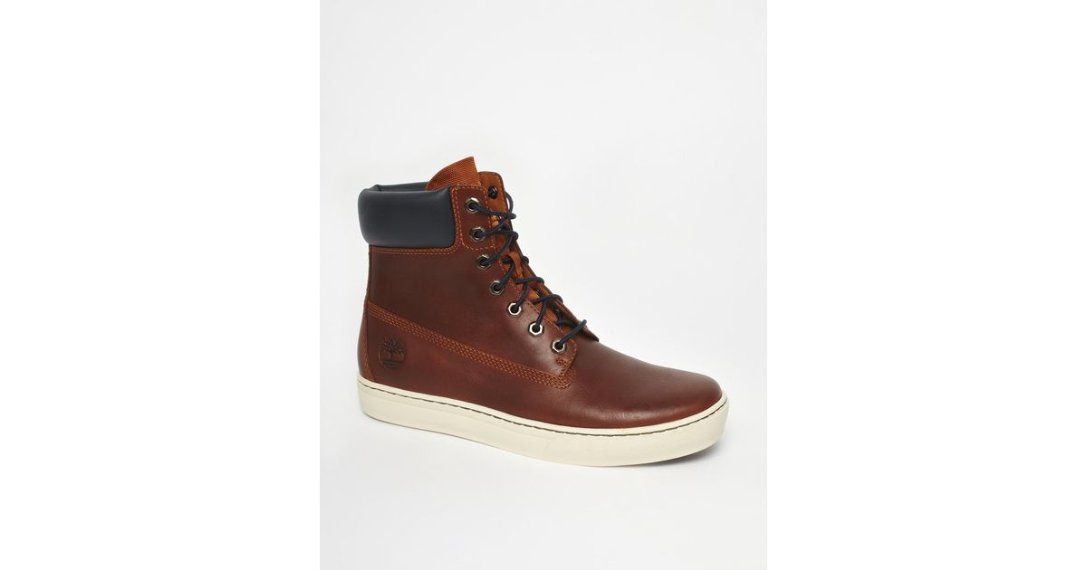 Lyst - Timberland Newmarket Cupsole 6 Boots in Brown for Men a6ee257e593c