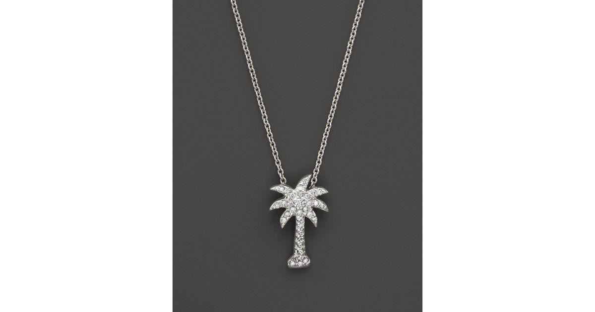 Kc Designs Diamond Palm Tree Pendant In 14k White Gold 2