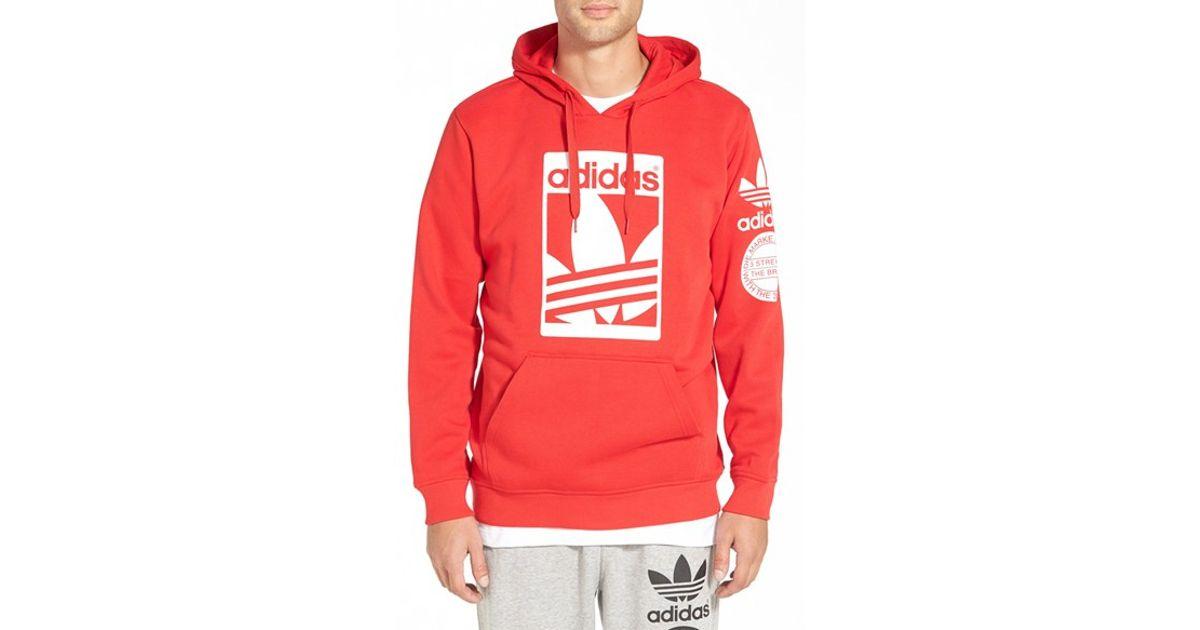 Lyst - adidas Originals  street Graphic  Hoodie in Red for Men de46cd37f302