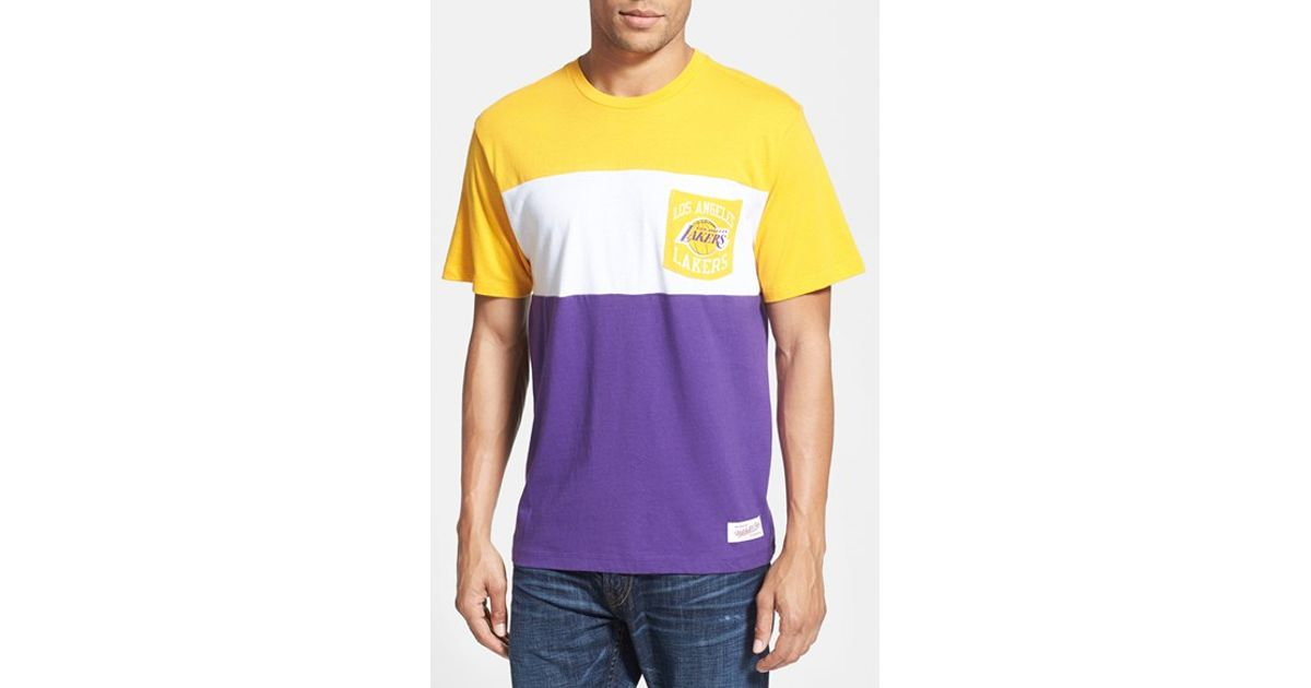Mitchell ness 39 los angeles lakers margin of victory for Custom dress shirts los angeles