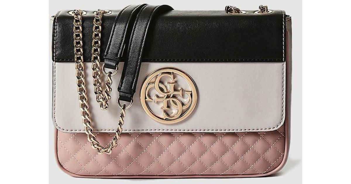 Guess Tricoloured Crossbody Bag In Pink b70ecd1f0d9a2