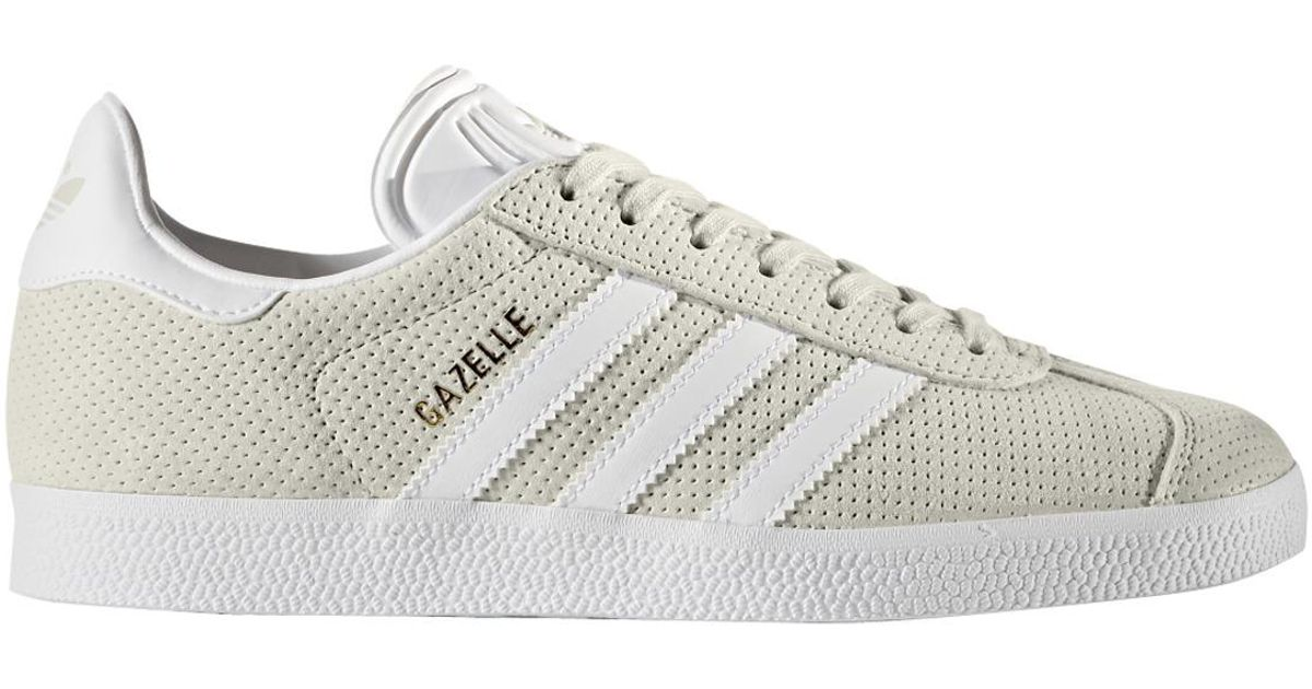 great deals check out best online adidas Originals Leather Gazelle Casual Trainers in Light ...