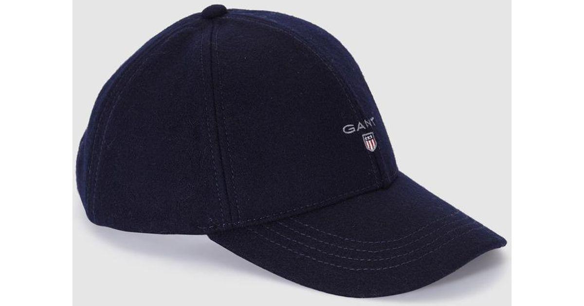 GANT Navy Blue Cap With Logo in Blue for Men - Lyst cc6a36b20a7