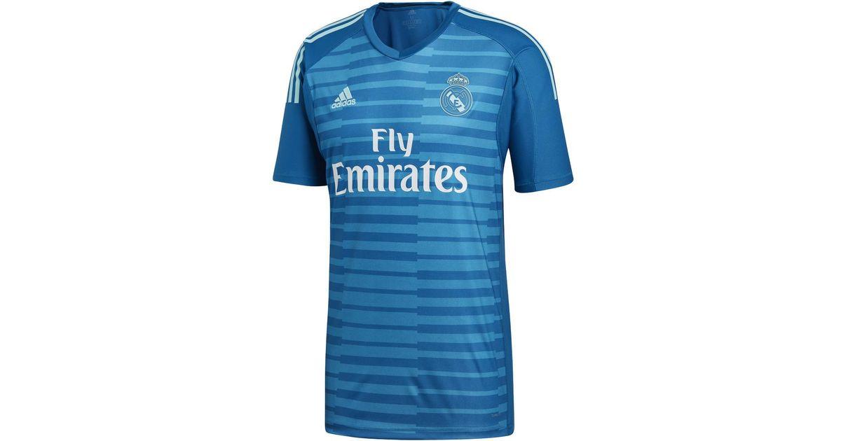 meet c9534 d0613 Adidas Blue Real Madrid Cf 2018-2019 Away Goalkeeper T-shirt for men