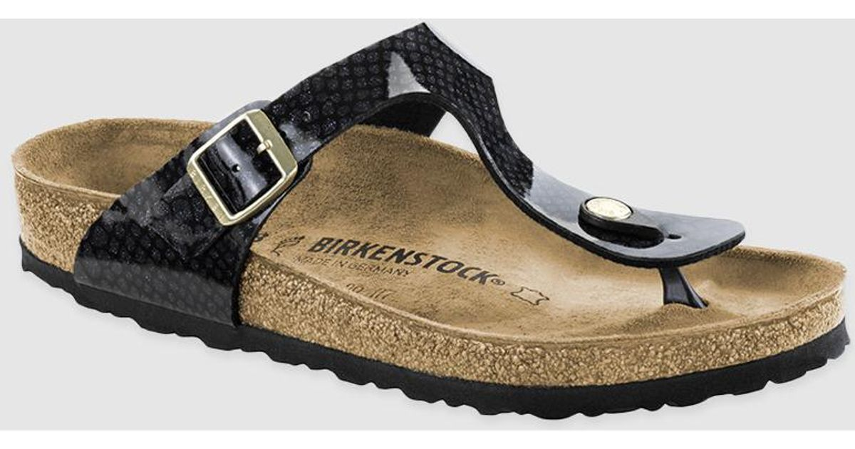 nuevo estilo d7eaa 5613f Birkenstock Black Flat Sandals With Buckle