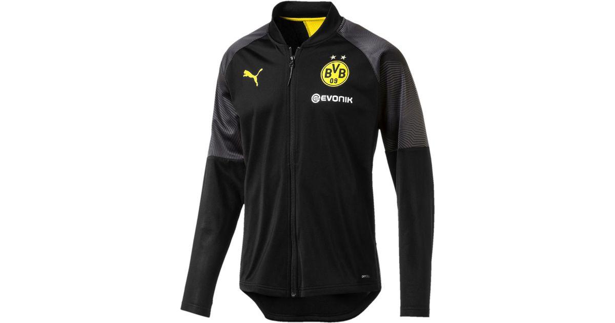 8b2d6b3d06bb1 PUMA Black Borussia Dortmund Bvb 2018-2019 Stadium Jacket for men