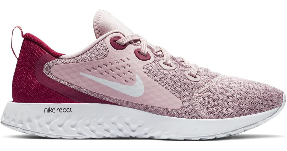 10d40ff6cd81 Nike Legend React Running Shoes in Pink - Lyst