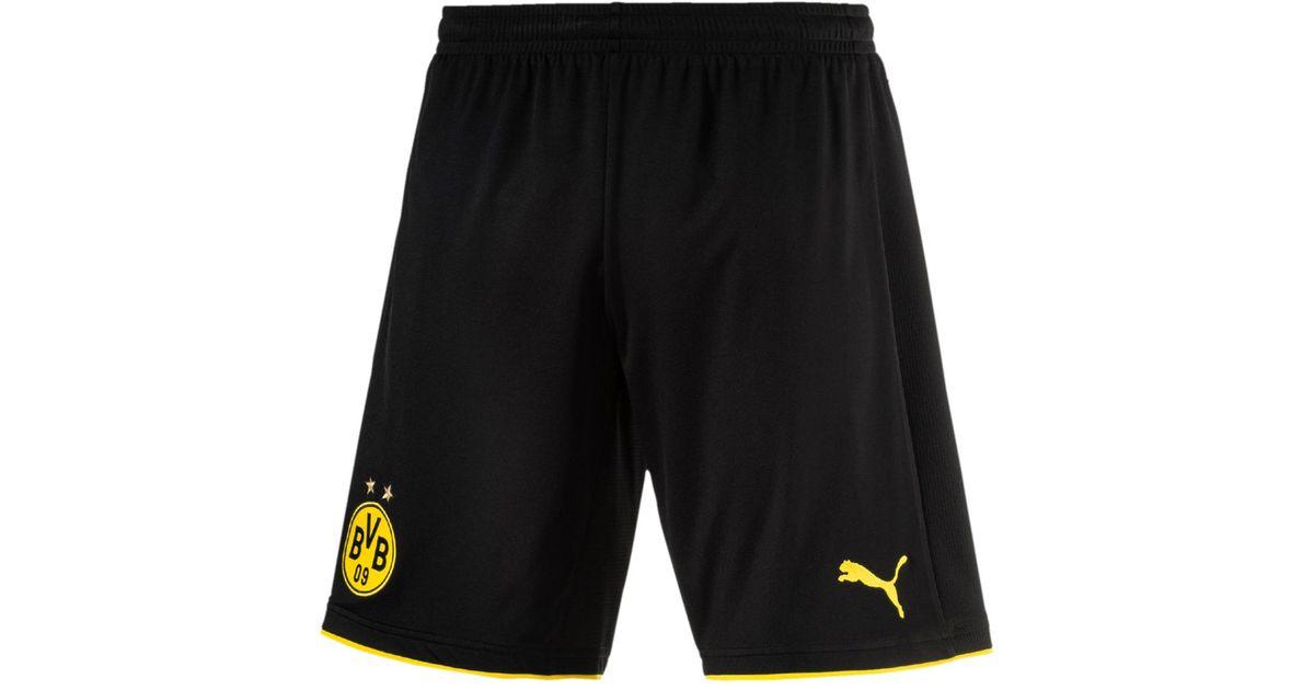 5134a6de3d PUMA Bvb Borussia Dortmund 2017-2018 Home Strip Shorts in Black for Men -  Lyst
