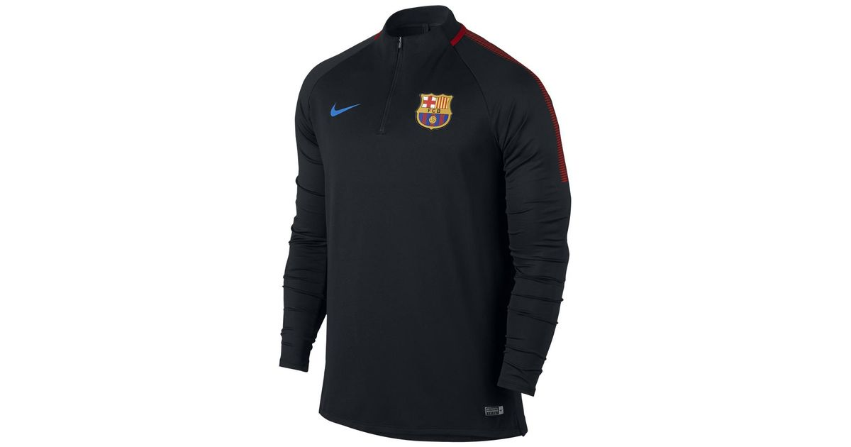 quality design 56ef4 0a337 Nike Black Fc Barcelona 2017-2018 Dry Squad Drill Training T-shirt for men