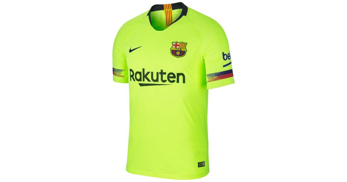 new product c7b5a 9904b Nike Green Fc Barcelona 2018-2019 Vapor Match Away T-shirt for men