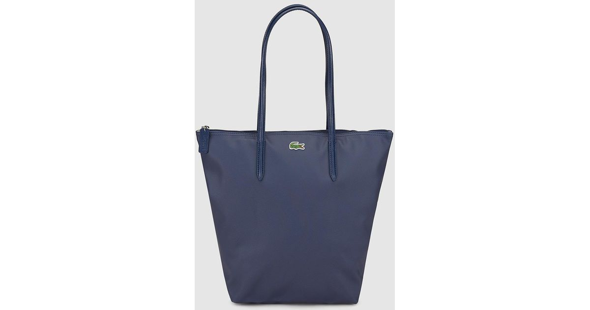 Navy Blue Tote Bag With The Brand Logo
