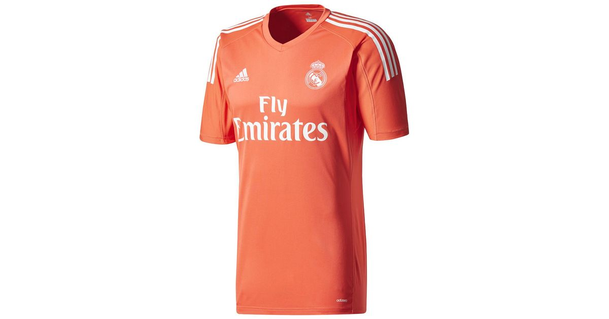 1c3623df5 adidas Real Madrid Cf 2017-2018 Away Strip Goalkeeper T-shirt in Orange for  Men - Lyst