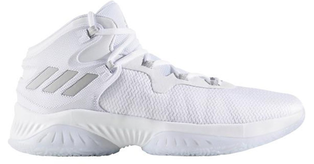 5fdb5dad71bb ... 2018 Basketball Shoe in Gray  separation shoes 1758f 6342b Lyst - adidas  Explosive Bounce Basketball Boots in White for