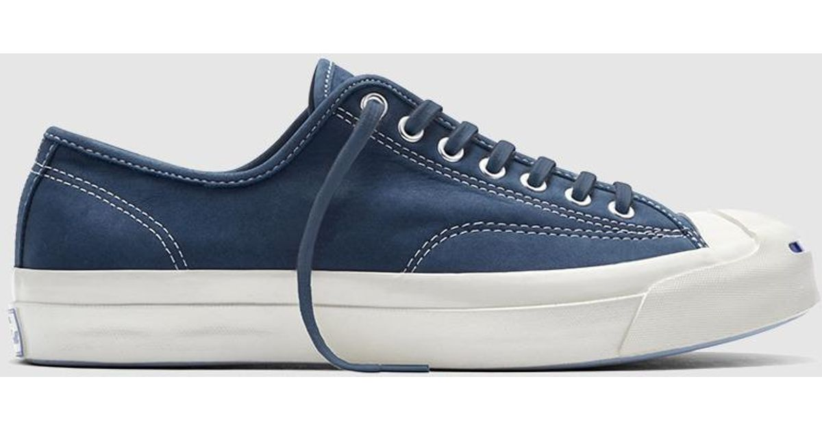 9f8551d5197c Lyst - Converse Blue Leather Trainers. Jack Purcell Signature Model. in Blue  for Men