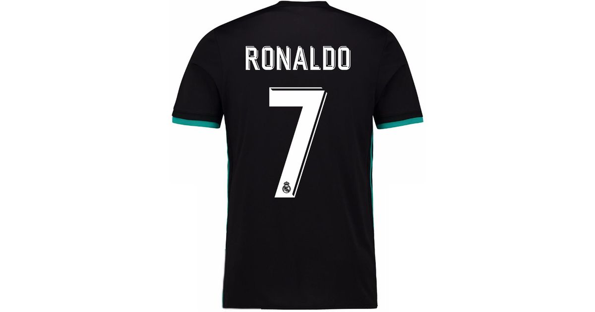 new concept 921b0 12588 Adidas Black Real Madrid Cf 2017-2018 Ronaldo Away T-shirt for men