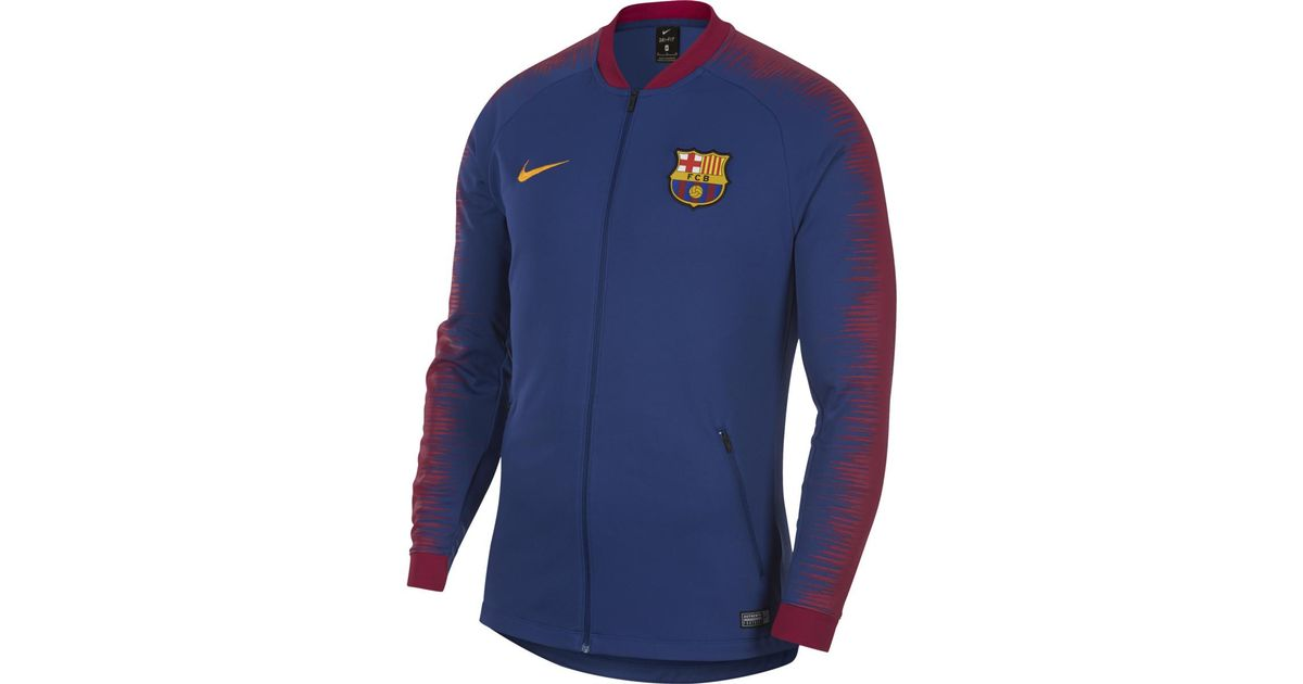 detailed look 2a727 07016 Nike Blue Fc Barcelona 2018-2019 Jacket for men