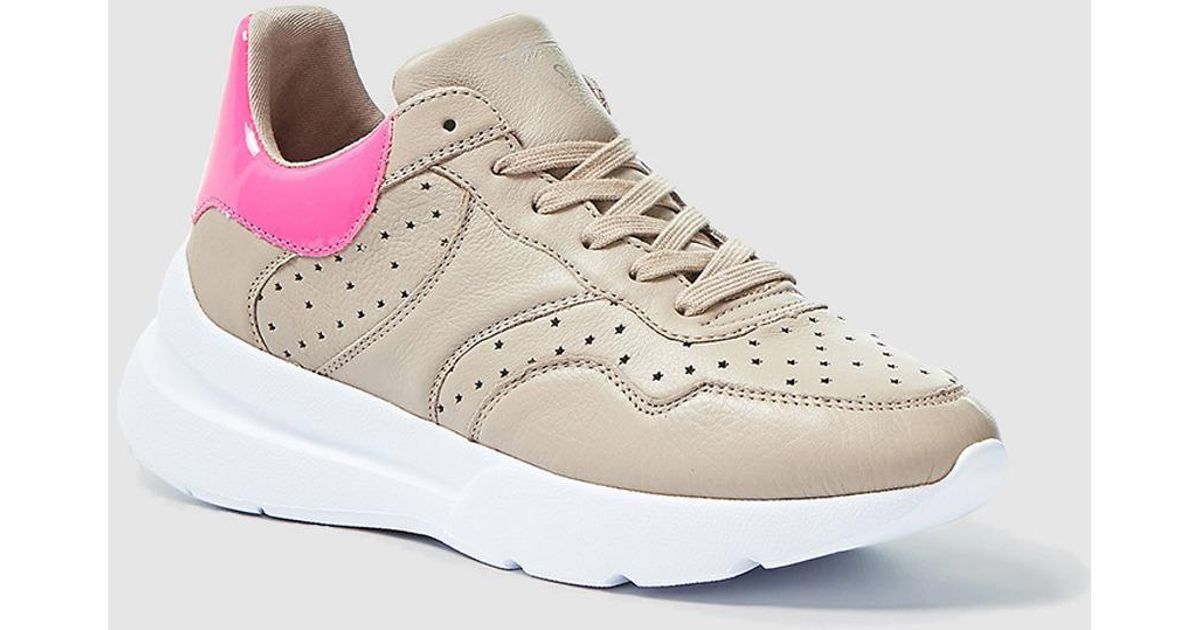 Guess Synthetic Beige Platform Trainers
