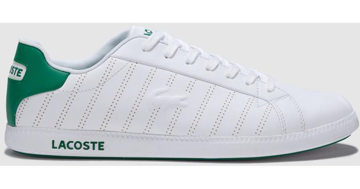 5f7ebf930f62 Lacoste White Trainers With Logo Detail in White for Men - Lyst