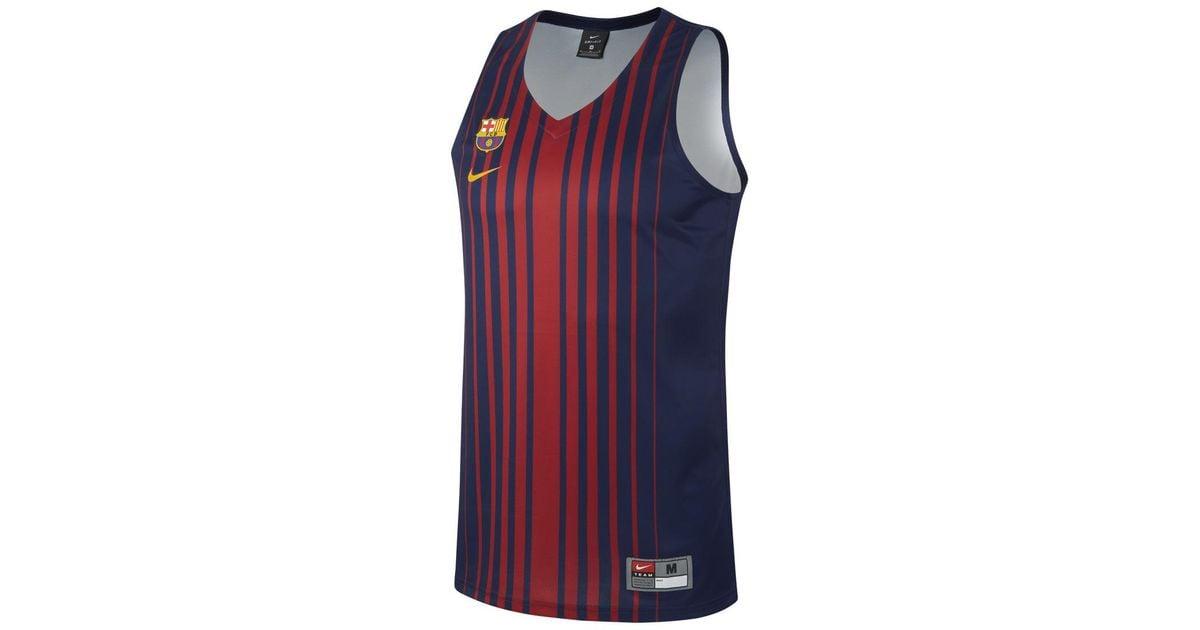 release date: e76c1 fd6c7 Nike Blue Fc Barcelona Replica Basketball Jersey for men