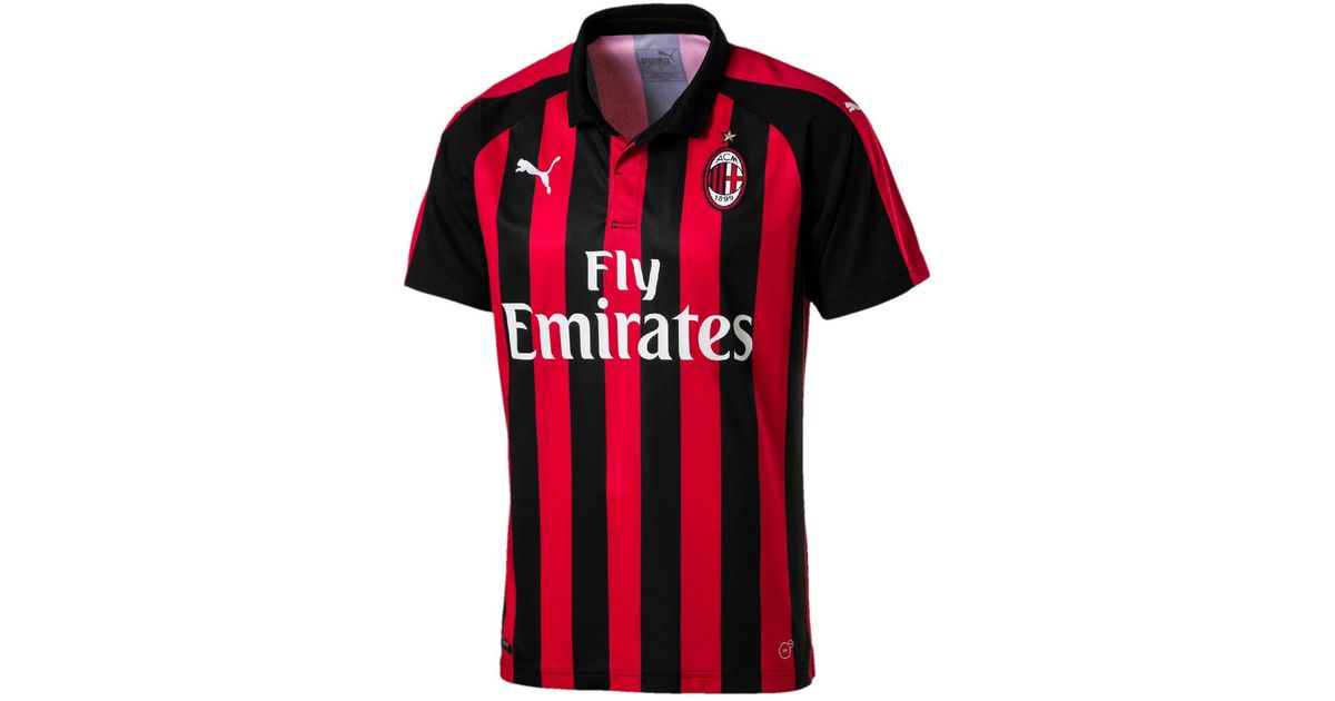 Lyst - PUMA Ac Milan 2018-2019 Home T-shirt in Red for Men 05e917cf6