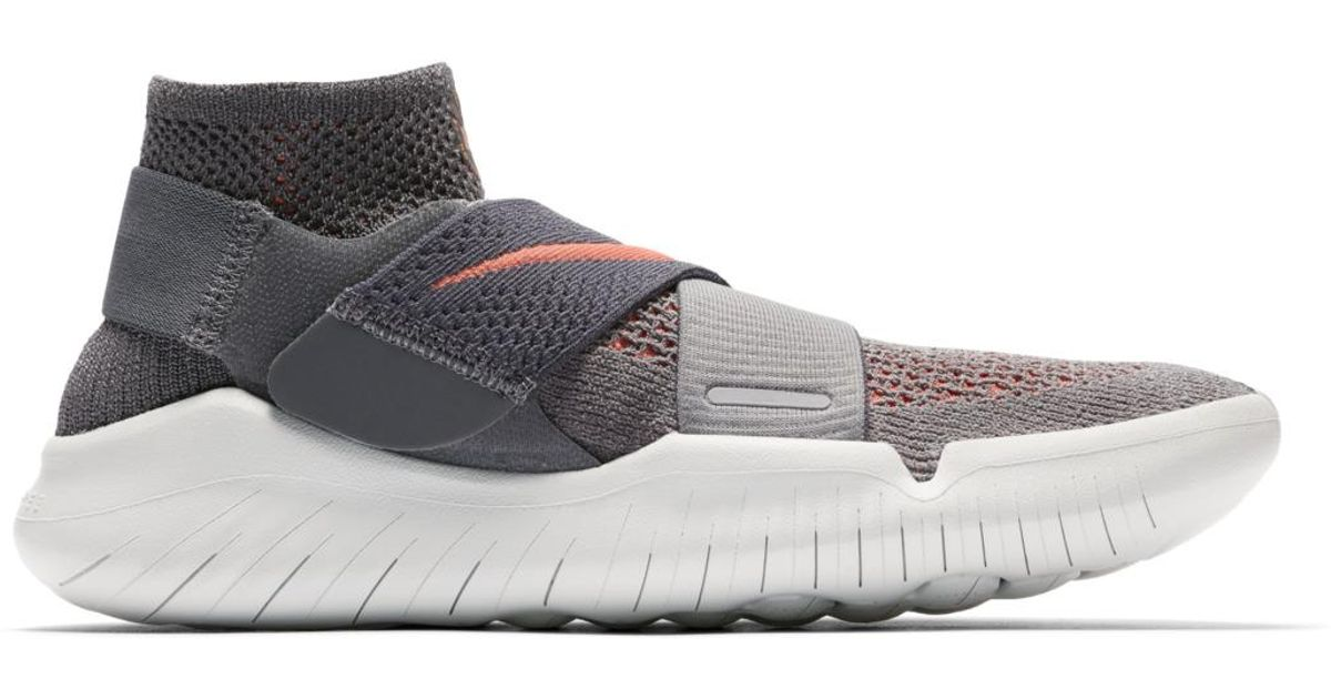 4abf1eb9d760 Nike Free Rn Motion Flyknit 2018 Running Shoes in Gray - Lyst