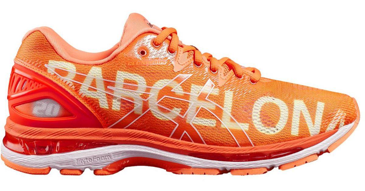 2eba3d016c3 Asics Orange Gel-nimbus 20 Barcelona Running Shoes