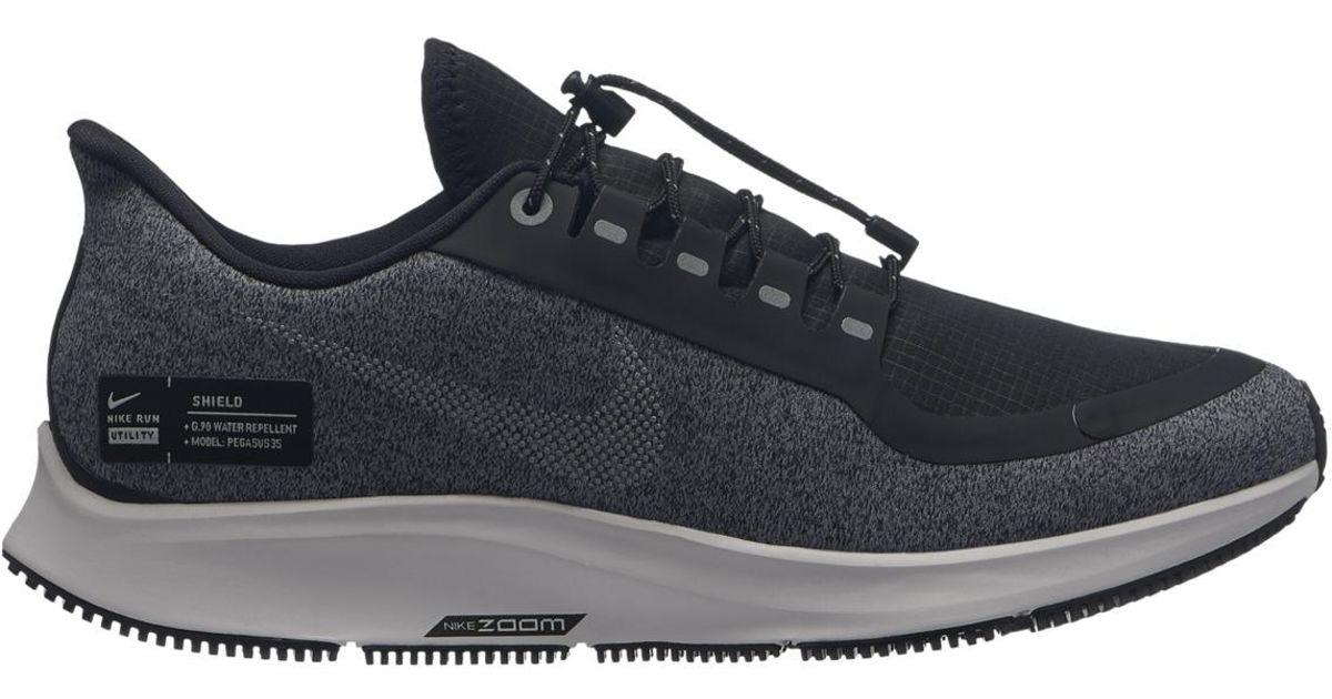 eb79e3deb21b4 Lyst - Nike Air Zoom Pegasus 35 Shield Running Shoes in Black