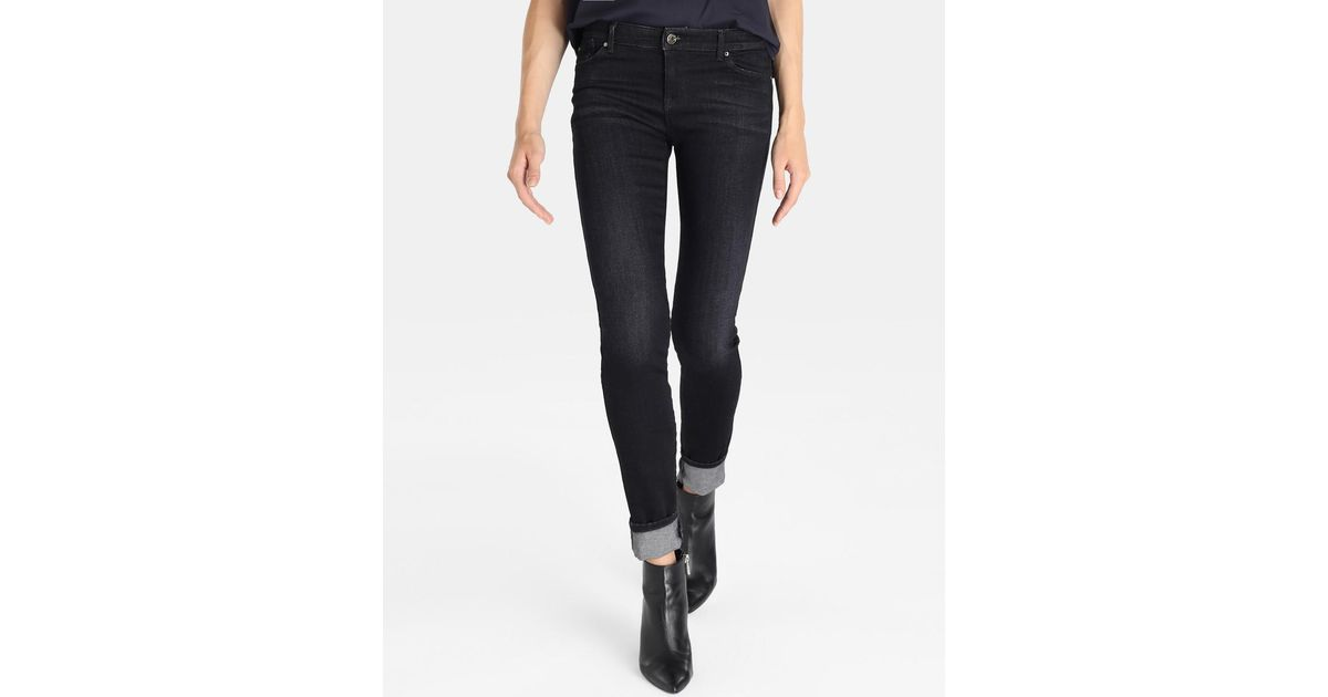 e00815e01d Lyst - Armani Jeans Distressed Skinny Jeans in Blue