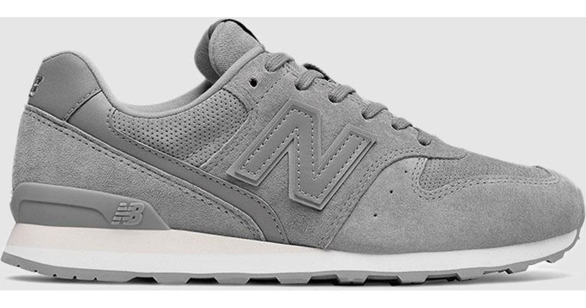 new balance 996 black suede trainers