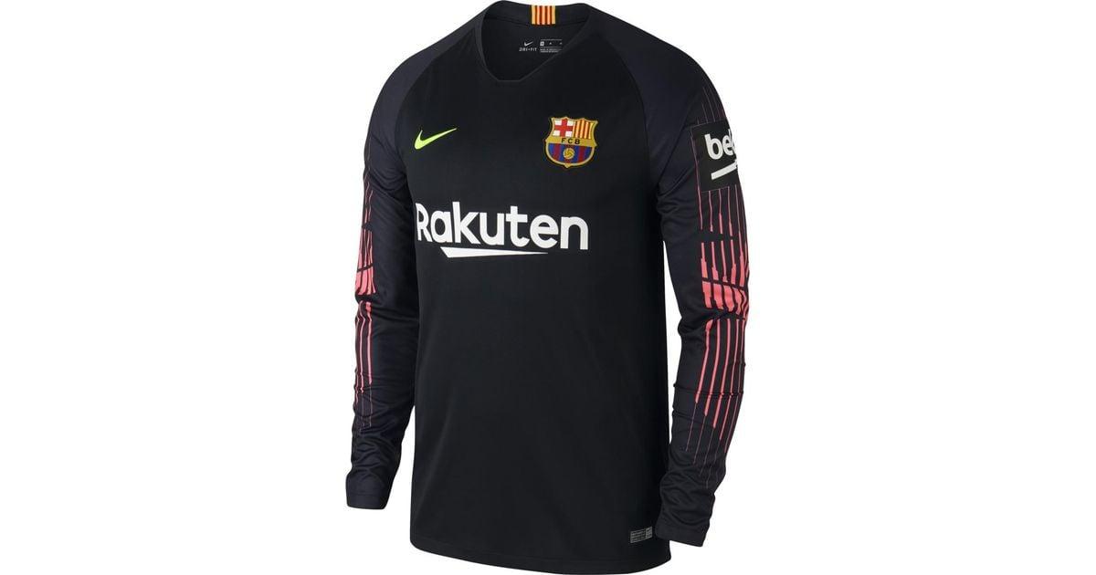 buy online 8d56d 1fc25 Nike Black Fc Barcelona 2018-2019 Breathe Stadium Goalkeeper T-shirt for men