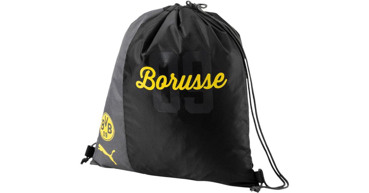... Puma Borussia Dortmund Bvb Fanwear Gymsack in Black for Men official  photos c19a9 7540c ... 8863dc5f67f0a