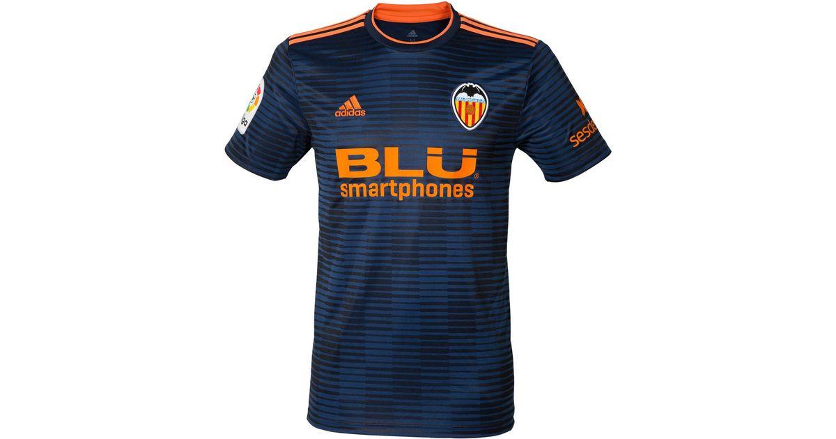 san francisco 35284 cfb60 Adidas Blue Valencia Cf 2018-2019 Away Strip T-shirt for men