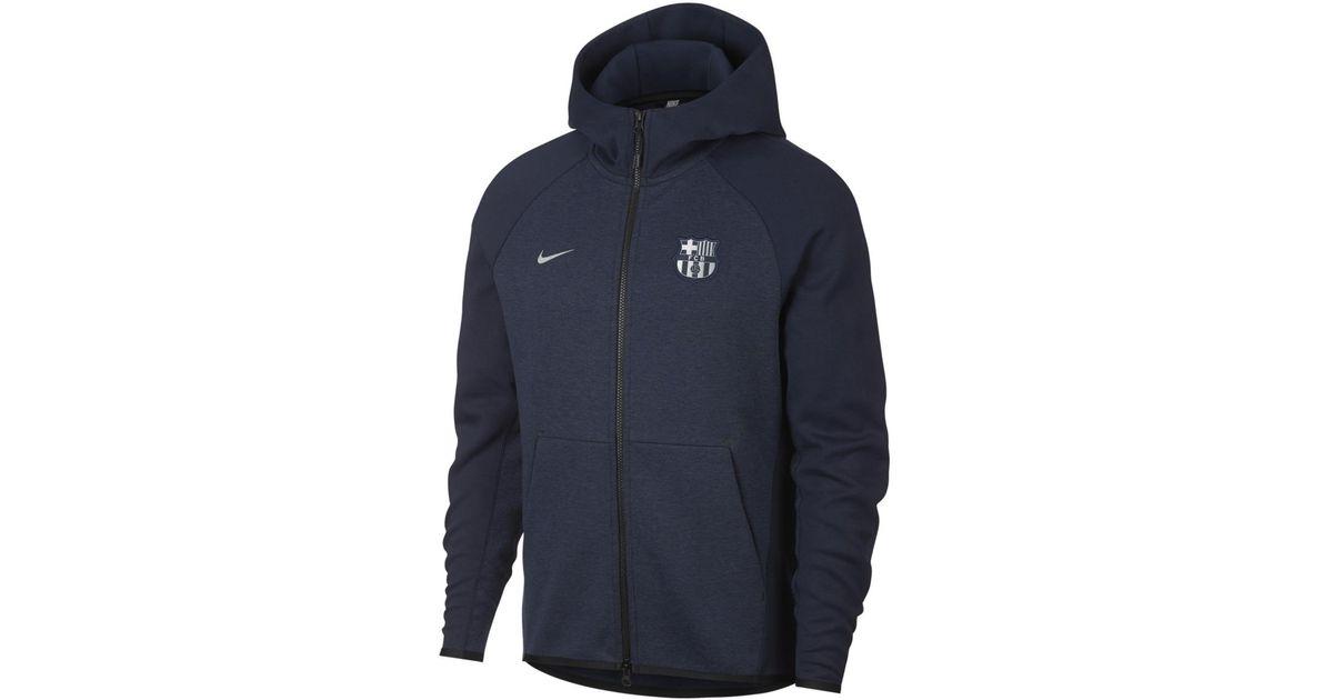 d4004f3e8 Nike Fc Barcelona 2018-2019 Tech Fleece Sweatshirt in Blue for Men - Lyst