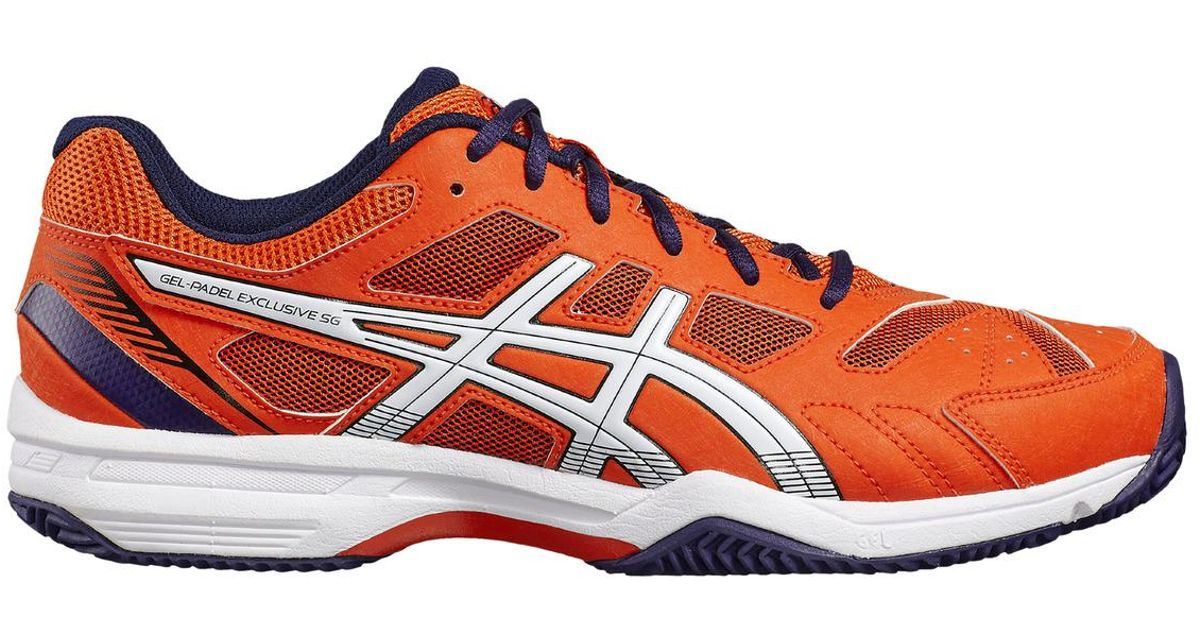 on feet shots of release info on hot new products Asics Gel-padel Exclusive 4 Sg Paddle Tennis Shoes in Orange ...