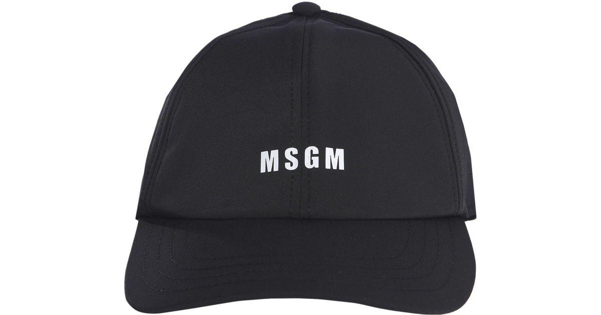 Lyst - MSGM Cappello Da Baseball Con Stampa in Black for Men f19b494ccd15