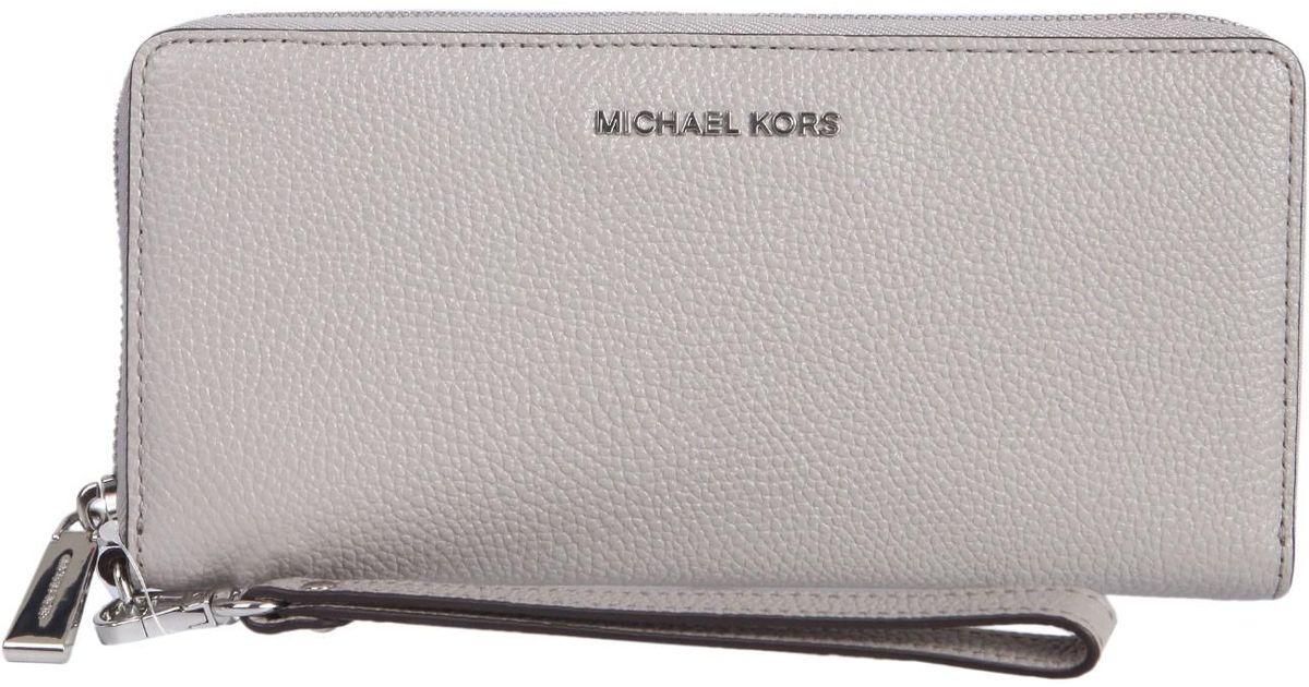 507821edc7 Michael Michael Kors Portafoglio Mercer Travel Continental In Pelle - Lyst