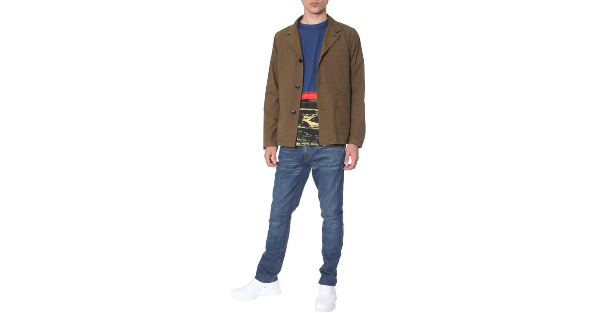 los angeles b37f5 72310 PS by Paul Smith - Green Giacca Destrutturata Monopetto In Cotone for Men -  Lyst