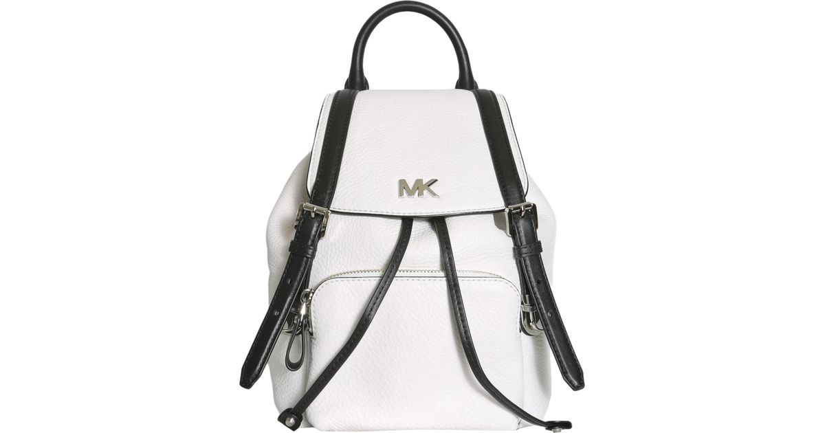 440b53e82b4f MICHAEL Michael Kors Beacon Small Leather Backpack in White - Lyst