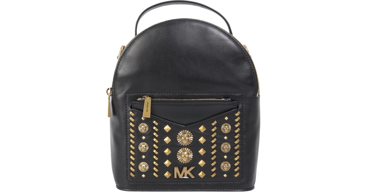 fbb42f2d8f96 ... where can i buy michael michael kors studded jessa small leather  backpack in black lyst 0f096