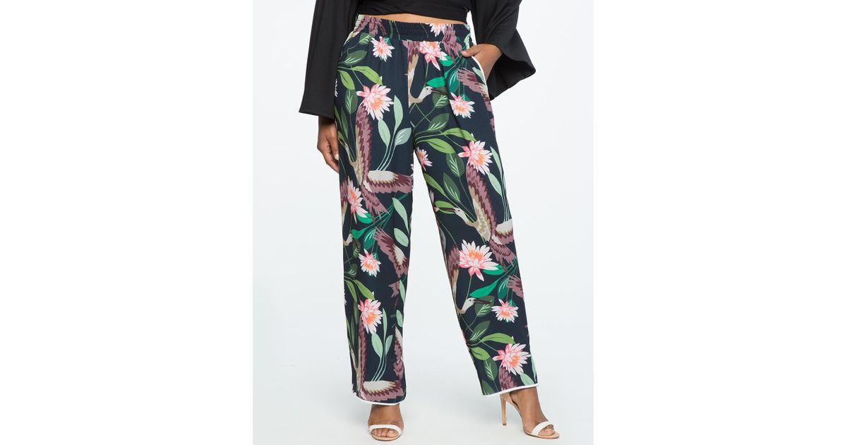 48fa6bda8d5 Lyst - Eloquii Studio Wide Leg Pajama Pant
