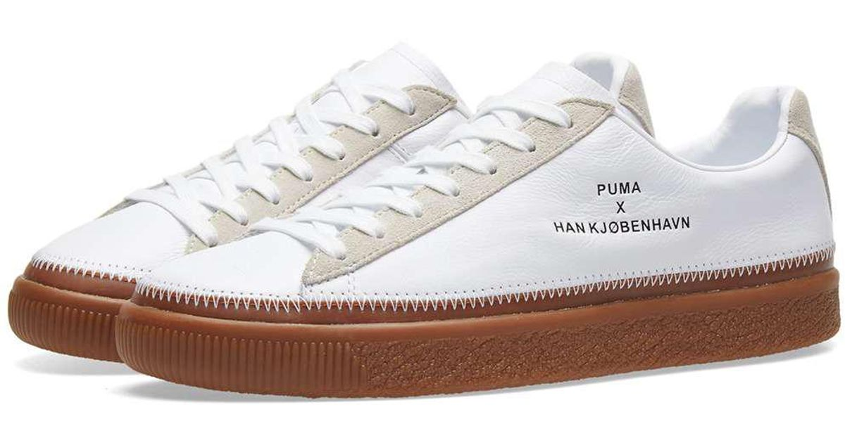 cheap for discount c2127 bb3cd PUMA White X Han Kjobenhavn Clyde Stitched for men