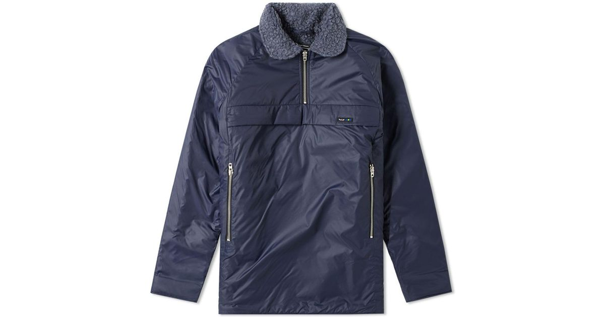 769f412cc762d3 Lyst - Nigel Cabourn X Peak Performance Quilted Smock in Blue for Men -  Save 22%
