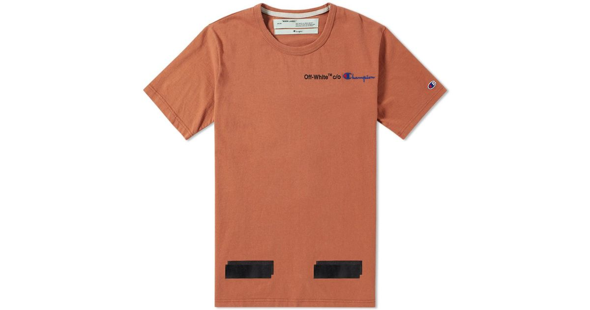 9035b99faa13 Off-White c/o Virgil Abloh X Champion Tee in Brown for Men - Lyst