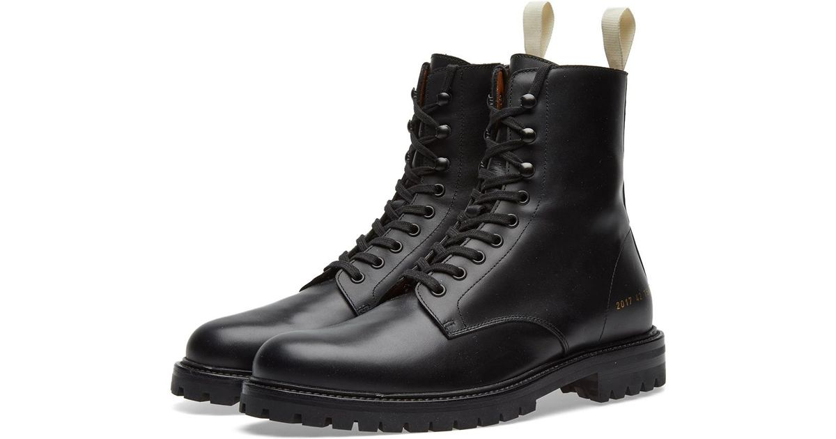 5f52b612cc70b Common Projects Winter Combat Boot in Black for Men - Lyst