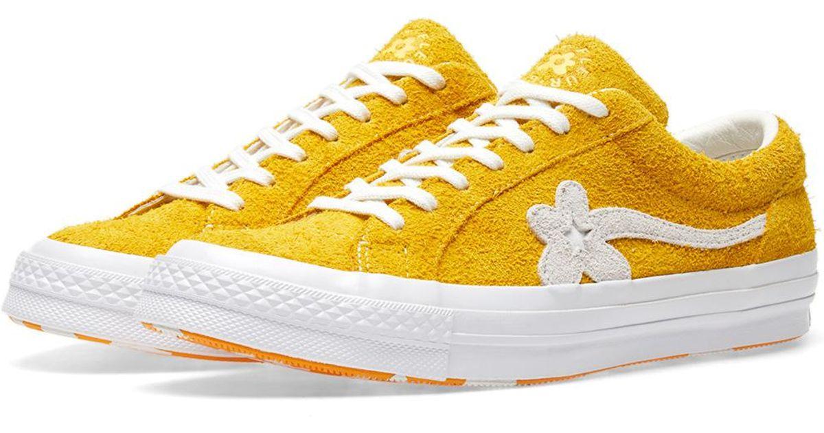Lyst Converse X Golf Le Fleur One Star In Orange